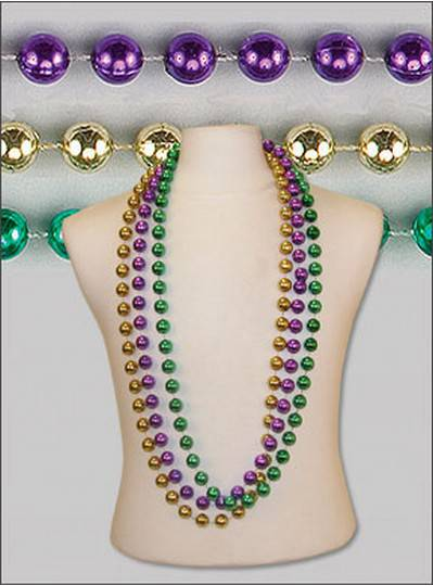 "48"" 18mm Round Metallic Purple, Green and Gold"
