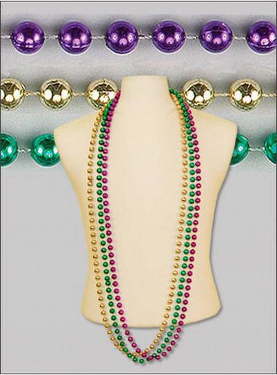 "60"" 12mm Round Metallic Purple, Green & Gold"