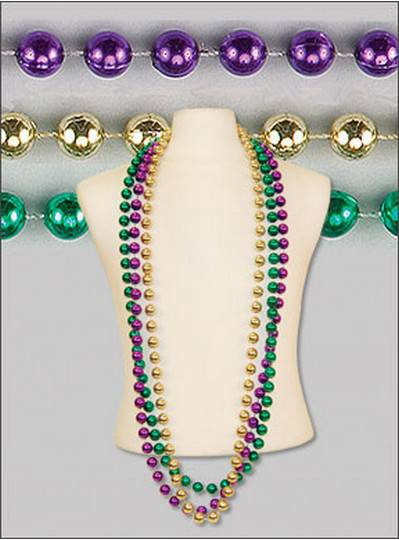 "60"" 18mm Round Metallic Purple, Green & Gold"