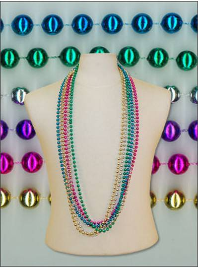 "48"" 8mm Round Metallic Assorted Colors"