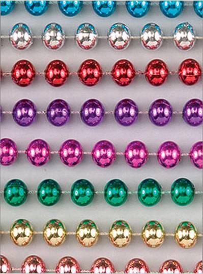 "96"" 18mm Round Metallic Assorted Colors"