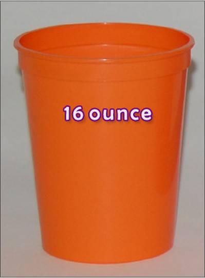 Plastic Cups 16 Ounce Orange