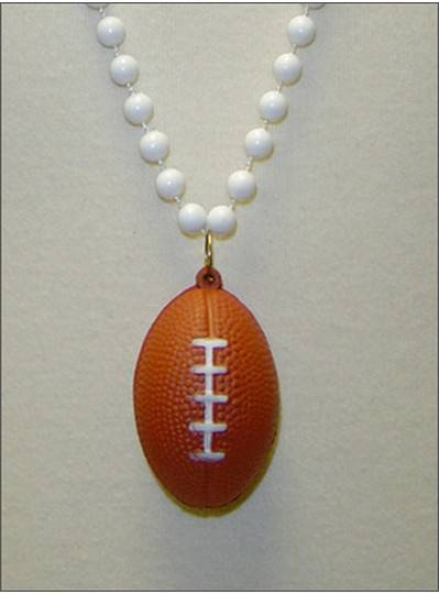 "Sports Themes 33"" Football Beads"