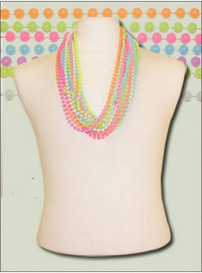 """33"""" 7mm Opaque Round  Glow in the Dark Beads"""