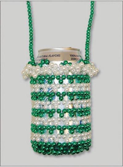 Can Holders Irish Green & White