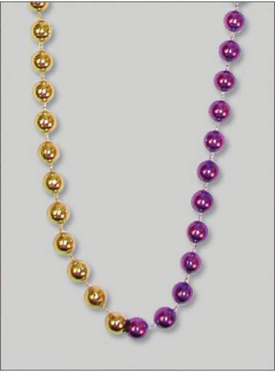 "48"" 10mm Round Metallic Purple and Gold"