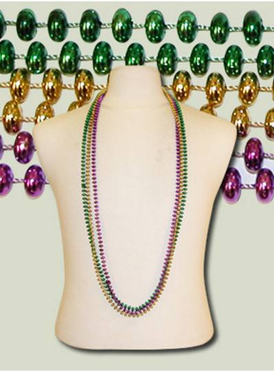 "48"" 8mm Flat Metallic Purple, Green & Gold"