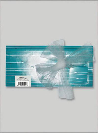 JBJ Wrap Blue Gift Certificate Bag