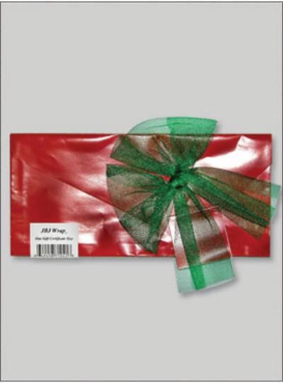 JBJ Wrap Christmas Red Gift Certificate Bag