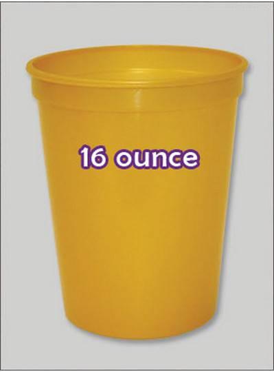 Plastic Cups 16 Ounce Gold Metallic