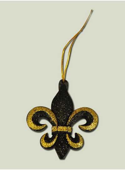Decorations - Black & Gold Glitter FDL Ornament