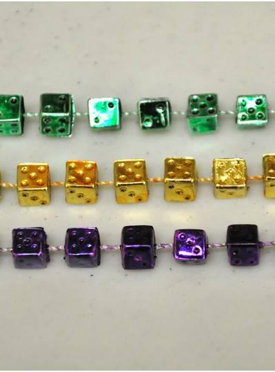 "Gaming & Casino - 33"" PGG Metallic Dice Beads"