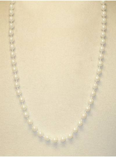 "33"" 10mm Round White Pearl"