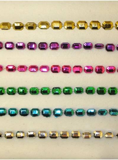 Mardi Gras Themes - Assorted Metallic Jewel Beads
