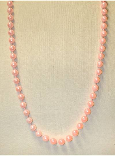 """36"""" 10mm Round Pink Pearl"""