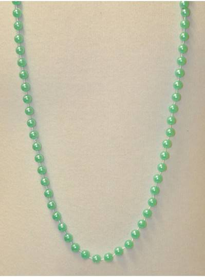 """48"""" 10mm Misty Green Pearl Beads"""