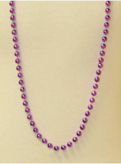 "48"" 10mm Purple Metallic Beads"
