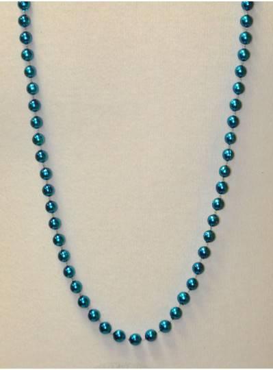 """48"""" 10mm Turquoise Metallic Beads"""