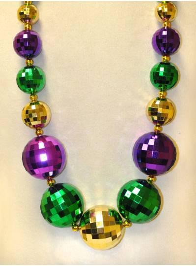 Mardi Gras Globe Purple, Green & Gold Beads