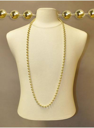 "48"" Inch 10mm Round Metallic Gold Beads"
