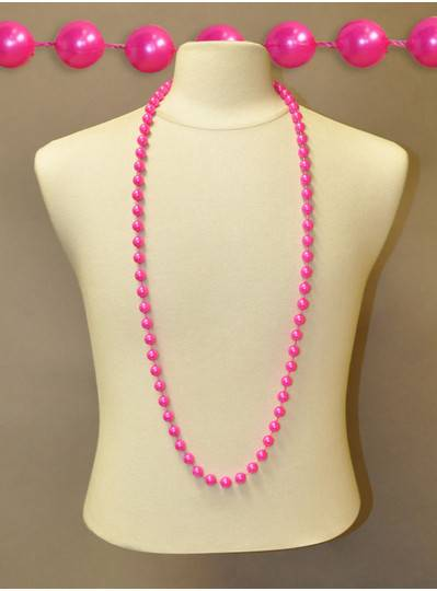 "48"" Inch 12mm Hot Pink Pearl Bead"