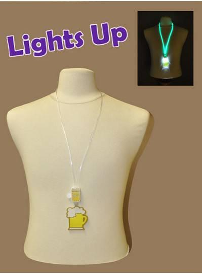Light-Up Beer Mug Necklace