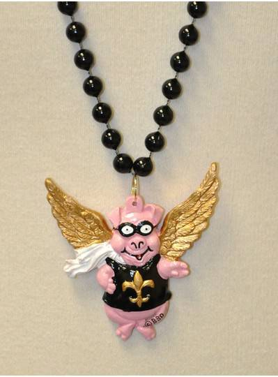 Creatures & Critters Flying Pig with Fleur de Lis