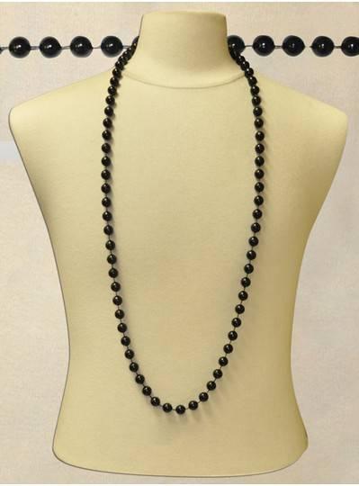 "48"" 12mm Black Beads"