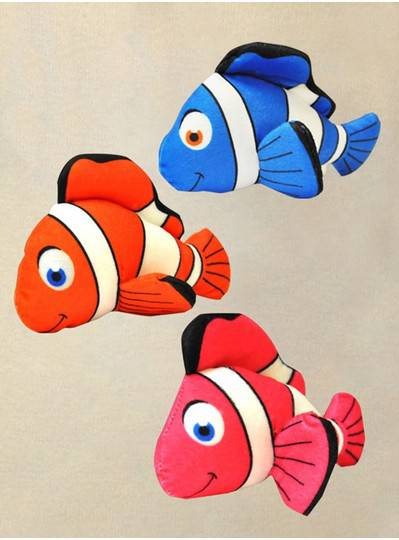"Plush Dolls & Toys - 8"" Clown Fish"