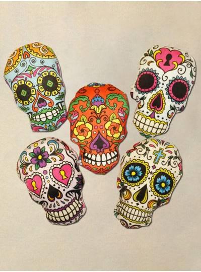 "Plush Dolls & Toys - 7"" Skull 5 Assorted Styles"