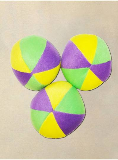 "Plush Dolls & Toys - 4"" Purple, Green and Gold Plush Ball"