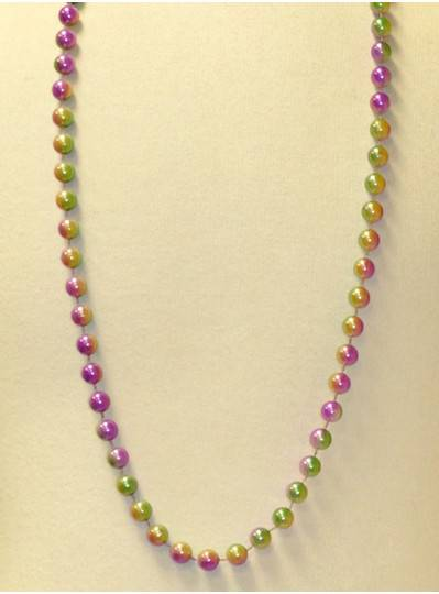"42"" 12MM  3 Tone Purple, Green and Gold Mardi Gras Beads"