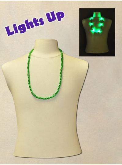 "33"" Green Blinky Bead with 6  Flashing Lights"