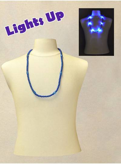 "33"" Blue Blinky Bead with 6  Flashing Lights"