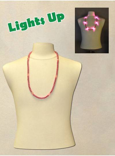 """33"""" Pink Blinky Beads with 6  Flashing Lights"""
