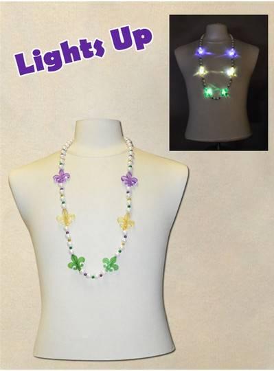 Light Up Mardi Gras Beads