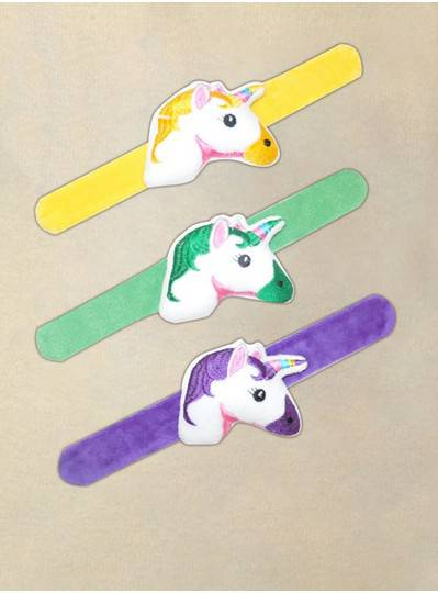 Unicorn Slap Bracelets 3 Assorted Colors
