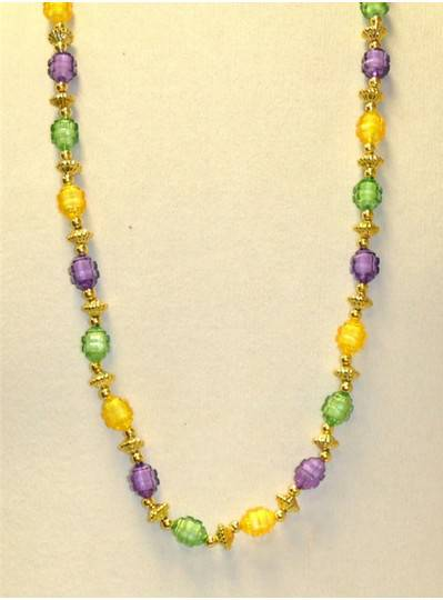 "38"" 18MM Purple, Green and Gold Transparent Honey Dipper"