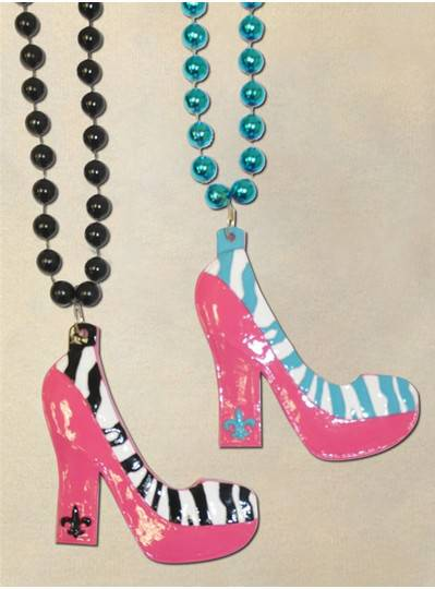 Sexy Zebra Print Black, Turquoise, Pink and White Pumps