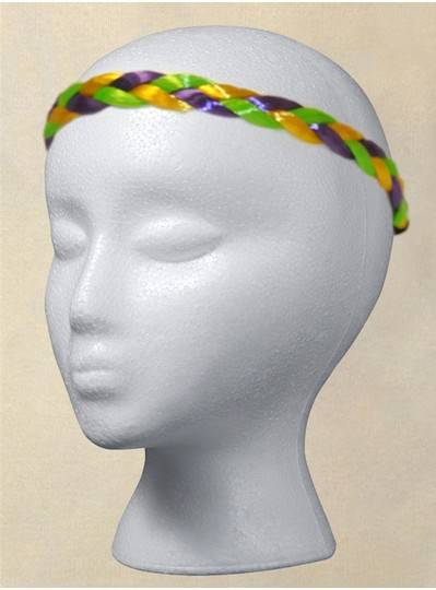 Fun Accessories - Purple, Green and Gold Braided Headband
