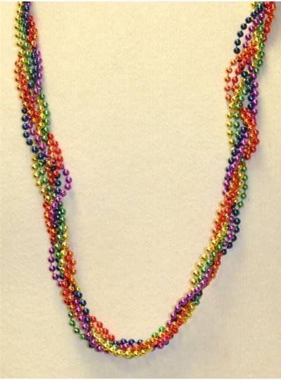 "39"" Twist Beads Rainbow"