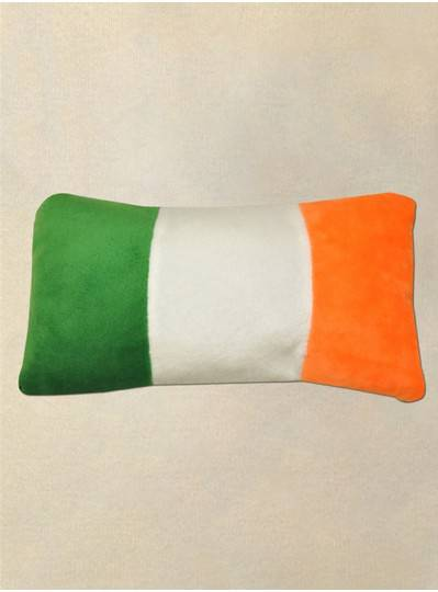 Plush Pillow Irish Flag Green, White & Orange