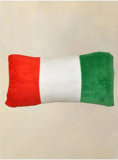 Plush Pillow Italian Flag Red, Green &  White