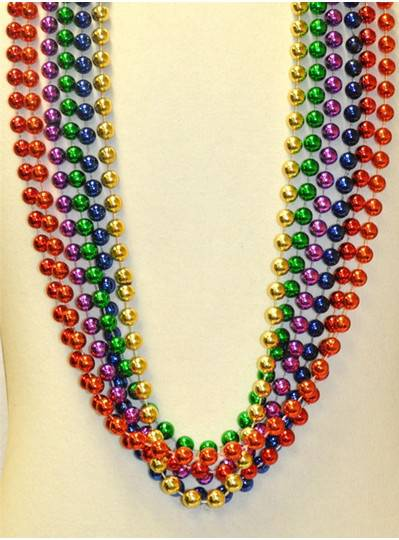 "48"" 12mm Round Metallic Rainbow Assorted"