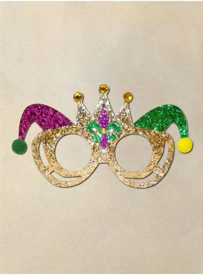 Purple, Green & Gold Cateye Mask