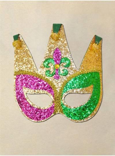 Purple, Green & Gold Jester Mask