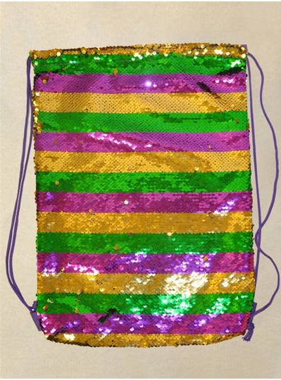 PGG Sequin Drawstring Backpack