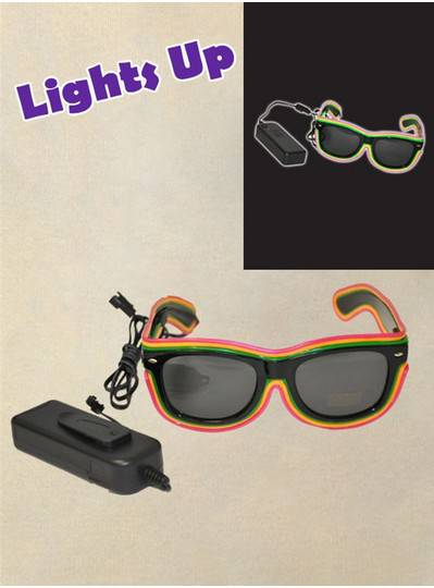 Purple, Green & Gold LED Sunglasses