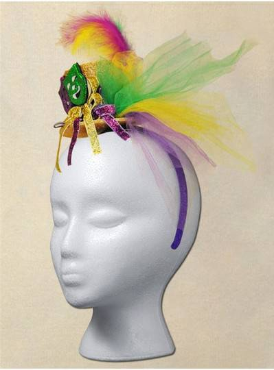 Fun Accessories - PGG Headband Hat with 2 Comedy and Tragedy Mask