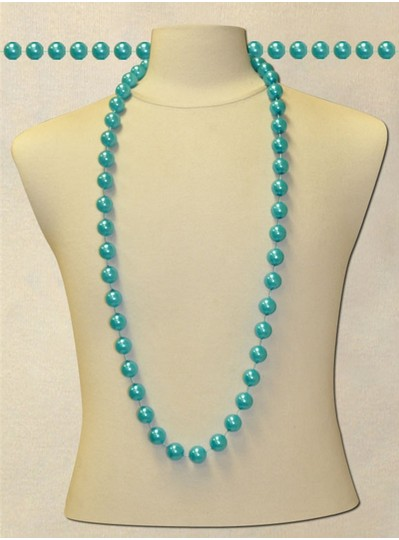 "48"" inch 18mm Blue Pearl Beads"